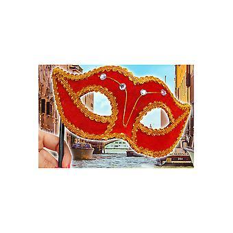 Mascaras antifaz de terciopelo Velluto con diamantes de imitación