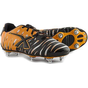 X blad vilda sak 6 stud rugby stövlar [orange]