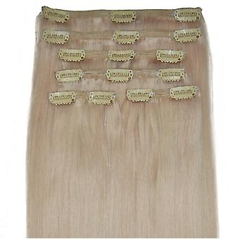 #60 Barbie Blonde - Clip-in Hair Extensions - Full Head
