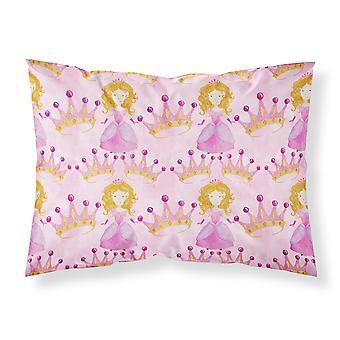 Watercolor Princess and Crown Fabric Standard Pillowcase