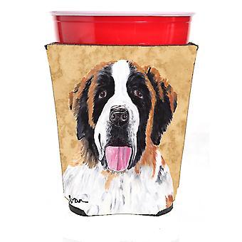 Carolines Treasures  SC9129RSC Saint Bernard Red Solo Cup Beverage Insulator Hug