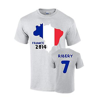 France 2014 Country Flag T-shirt (ribery 7)