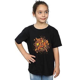Marvel meisjes Avengers assembleren Halloween Spider logo T-shirt