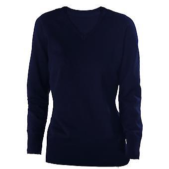 Kariban Womens V-Neck Long Sleeve Jumper / Knitwear