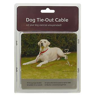 Rozenhout hond Tie-Out kabel