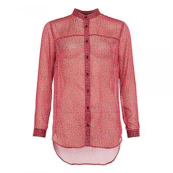 French Connection French Connection Aubine Crinkle Collarless Womens Shirt