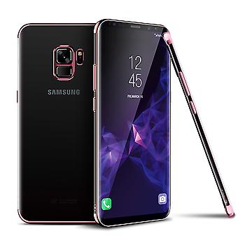 Cell phone cover case voor Samsung Galaxy S9 transparant transparante rose pink
