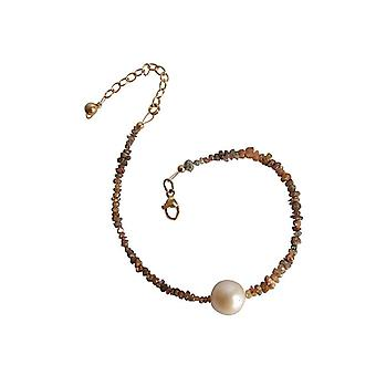Diamond armbånd gullet tallerken perle champagne diamond og pearl armbånd