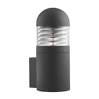Lampada cilindrica nero Post all'aperto del proiettore In finitura Matt