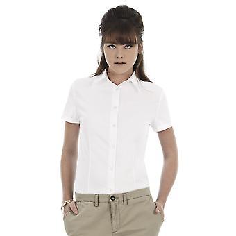 B&C Ladies Oxford Short Sleeve Corporate Shirt-SWO04
