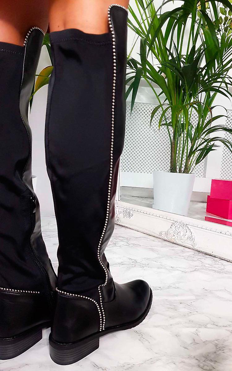 IKRUSH Womens Sarah Studded Knee High Boots