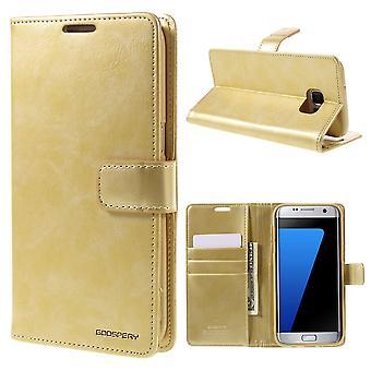 Mercury Goospery Blue Moon for Samsung Galaxy S7 Edge Gold