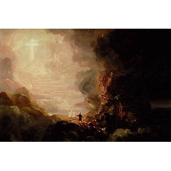 The Pilgrim of the Cross at the End of His, Thomas Cole, 60x40cm