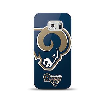 Mizco Sports NFL Oversized Snapback TPU Case for Samsung Galaxy S6 (St. Louis Rams)