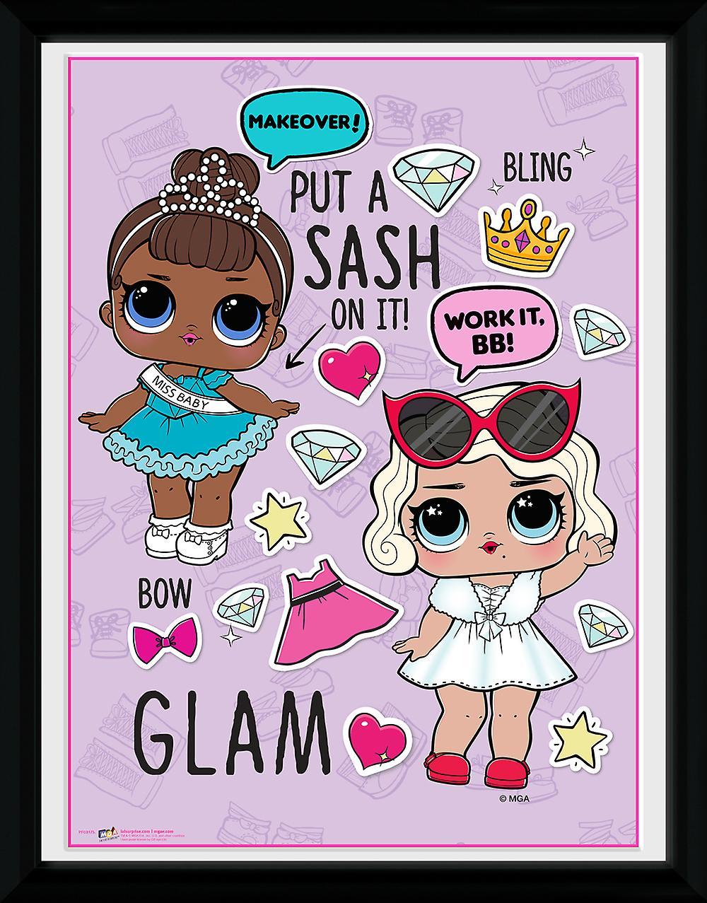 LOL Surprise Glam Framed Photographic Print 30x40cm