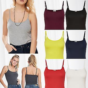 JDY Women's Top BASIC Stretch Tank TOP Jersey Shirt Sleeveless Underwear Sports