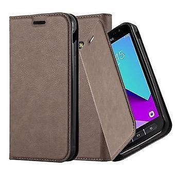 Gaine Cadorabo pour Samsung Galaxy XCover 4 coque case cover - coque pour téléphone portable avec fermeture magnétique, fonction de stand et compartiment à cartes - Case Couverture Étui Sac de poche Style pliant