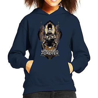 Marvel Black Panther Shuri Wakanda Forever Kid's Hooded Sweatshirt