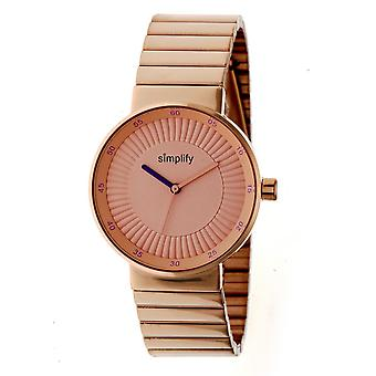 Simplify The 4600 Bracelet Watch - Rose Gold/Purple