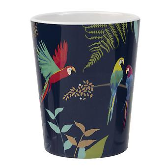 Sara Miller Set of 4 Parrot Melamine Beakers