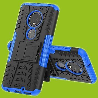For Motorola Moto G7 / G7 pluss hybrid tilfelle 2 stykke Koczian utendørs Blau bag coveret beskyttelse