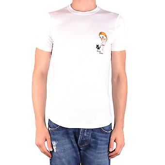 Dsquared2 Ezbc008084 Miehet's Valkoinen Puuvilla Puuvilla T-paita