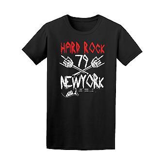 Hard Rock 79 New Yorkin Skull Hand tee miesten-kuva Shutterstockissa