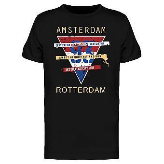 Amsterdam-Holland typografie Tee mannen-beeld door Shutterstock