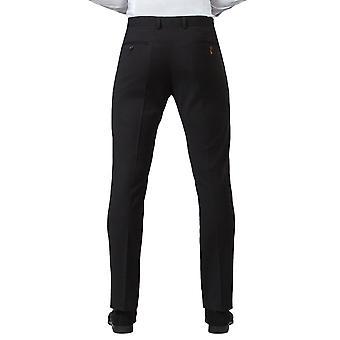 Benefíciate Londres Mens negro traje pantalones Slim Fit