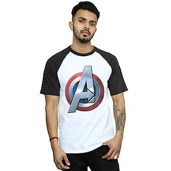Marvel hommes Avengers 3D logo baseball T-Shirt