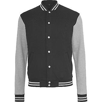 Cotton Addict Mens Contrast Sweat College Casual Jacket