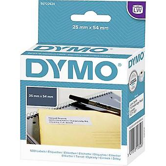 DYMO Label roll 11352 S0722520 54 x 25 mm Paper White 500 pc(s) Permanent All-purpose labels