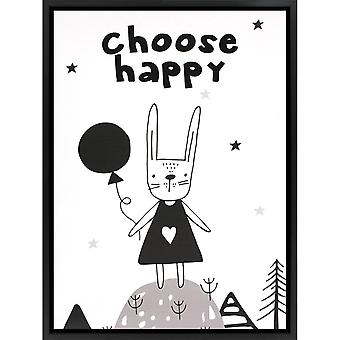 Grindstore Scegli Happy Canvas Print