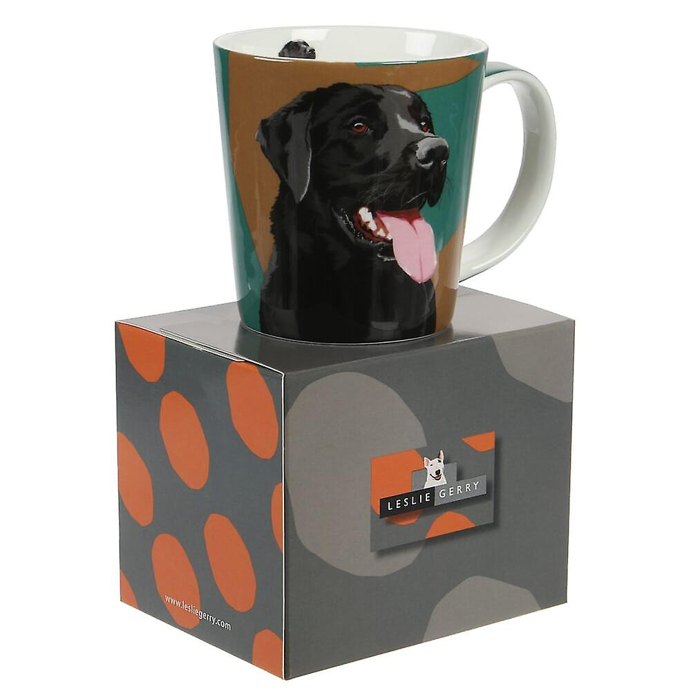 Leslie Gerry Black Labrador Bone China Mug