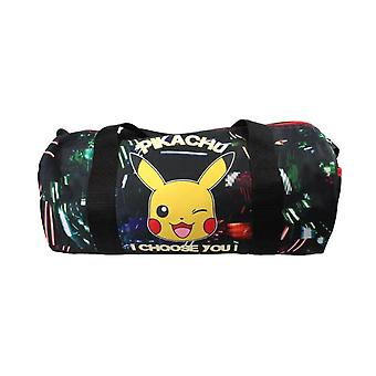 Pokemon Pikachu Glow in The Dark Barrel Bag
