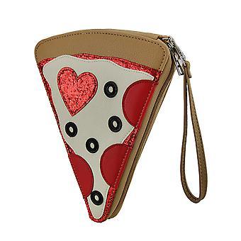 Pizza Party Stück Torte-Peperoni-Pizza Handtasche w/abnehmbare Handschlaufe