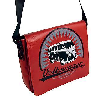 Hivatalos VW Camper van T1 ponyvás Tablet Messenger Bag-piros