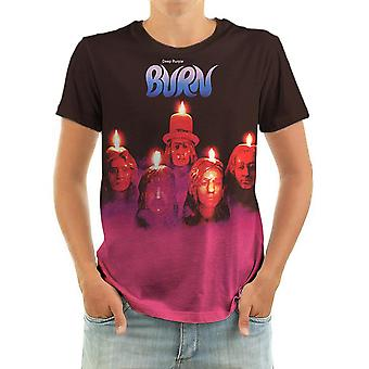 Born2rock - burn deep purple - mens t-shirt