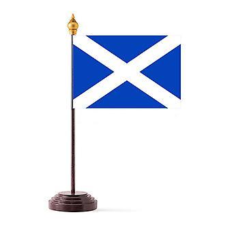 Bandera de cuadro escocés con Base y palo