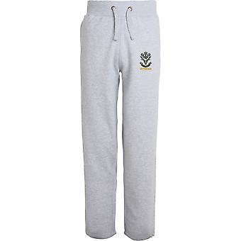 Queens Own Highlanders Veteran - Licensed British Army Embroidered Open Hem Sweatpants / Jogging Bottoms