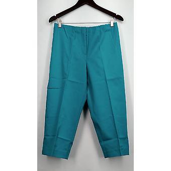 Susan graver broek kust stretch comfort taille capris Teal blauw A265857