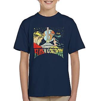 Flash Gordon With Dale Space Flight Kid's T-Shirt