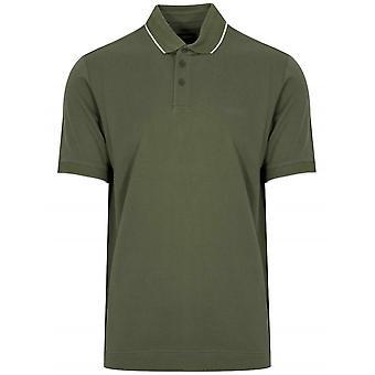 Z Zegna Green Short Sleeved Polo Shirt