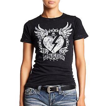 Affliction Damen amerikanischen Heartbreaker kurzen Ärmeln T-Shirt
