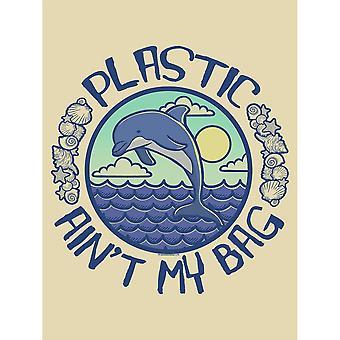 Grindstore Plastic Ain�'t My Bag Cream Tote Bag