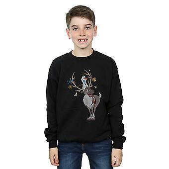 Disney Boys Frozen Sven And Olaf Christmas Ornaments Sweatshirt