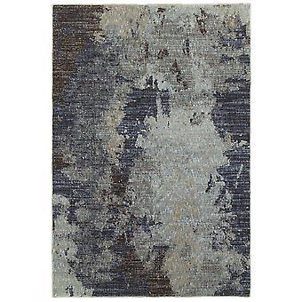 Evolution 8049b navy/ blue indoor area rug rectangle 10'x13'2