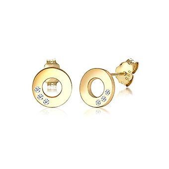 Elli PREMIUM Women's pin earrings gold_yellow - 308640817