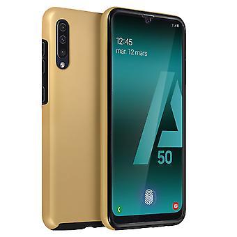 Husă din silicon + capac spate din policarbonat pentru Samsung Galaxy A50 – Aur