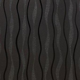 Arthouse Glitz Wavey Stripe Tapety Czarny Srebrny Glitter Shimmer Lines Vinyl